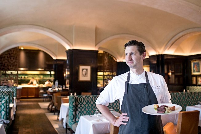 Chef Chris Grossman from Atlas Cooking a Garnish and Gather meal kit.jpg