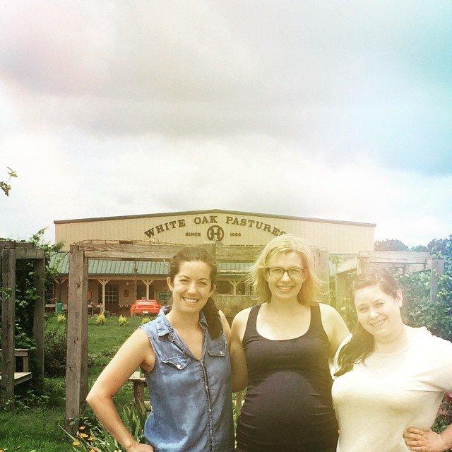 Rachel Anderson Kate Martin and Emily Golub white oak pastures farm tour agrotourism .jpg