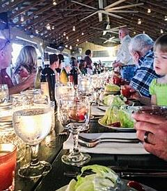 candlelight dinner at the pavilion farm to table