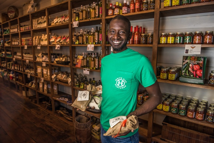 Chad sourced all the local farm to table small business products for our General Store