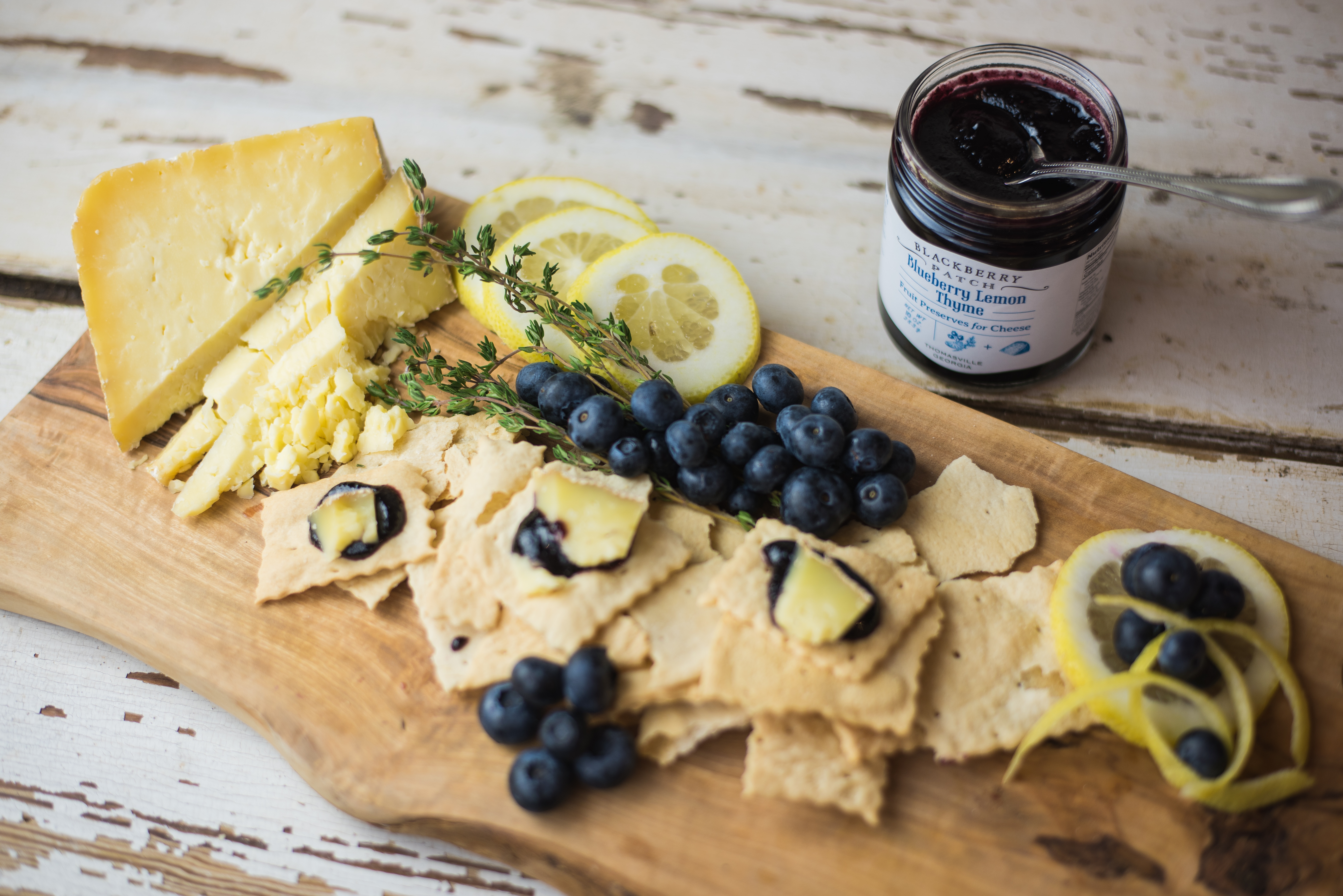 Blackberry Patch blueberry lemon is great with cheese and wine