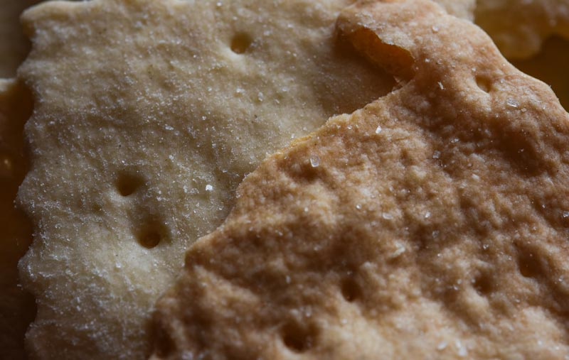 GA Sourdough crackers closeup
