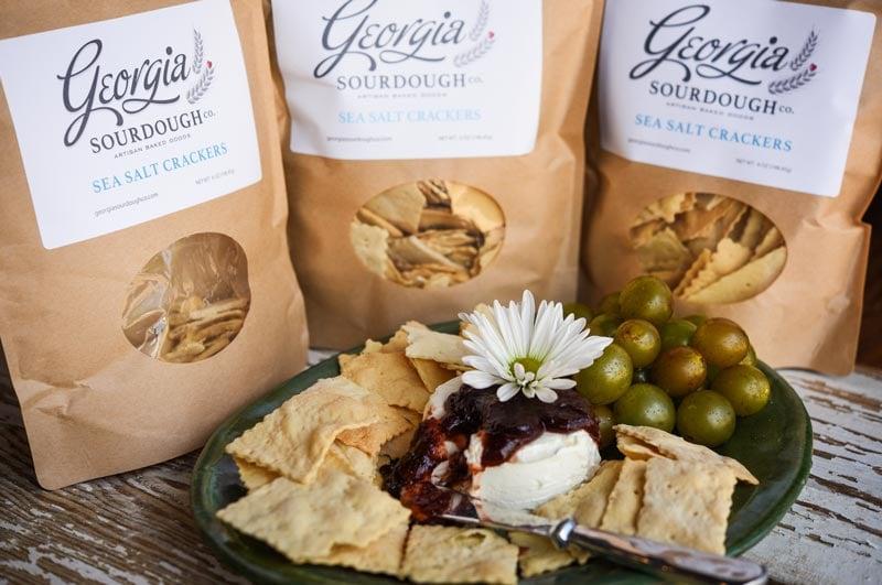 Georgia Sourdough Crackers elevate any cheese plate