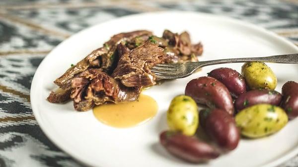 Grassfed beef short ribs recipe sauce plate