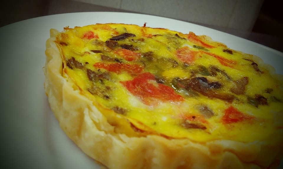 our quiche is made using our pasture raised eggs and is an employee favorite
