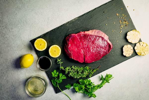 London Broil ingredients uncooked