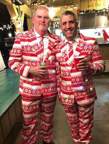 Mark Harrison with Mark Meilak White Oak Pastures Christmas Party