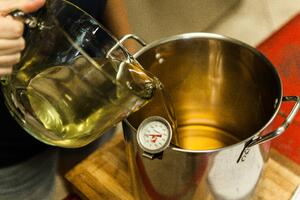Processing Tallow Candle Room 7-22-14 Soap Mixing Hand-2.jpg