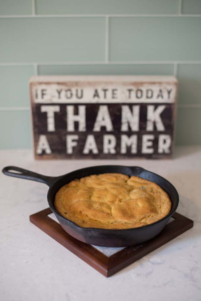 To Your Health Sprouted Cast Iron Cornbread. Photo by Brandi Fitzgerald.