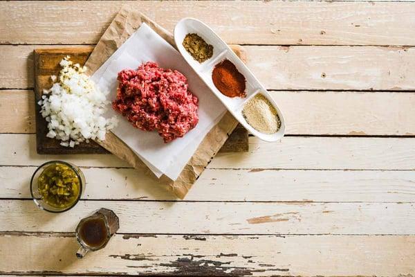Tex Mex ground grassfed beef tacos ingredients