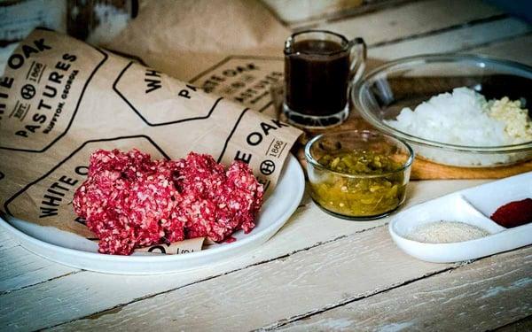 Tex Mex ground grassfed beef tacos recipe ingredients