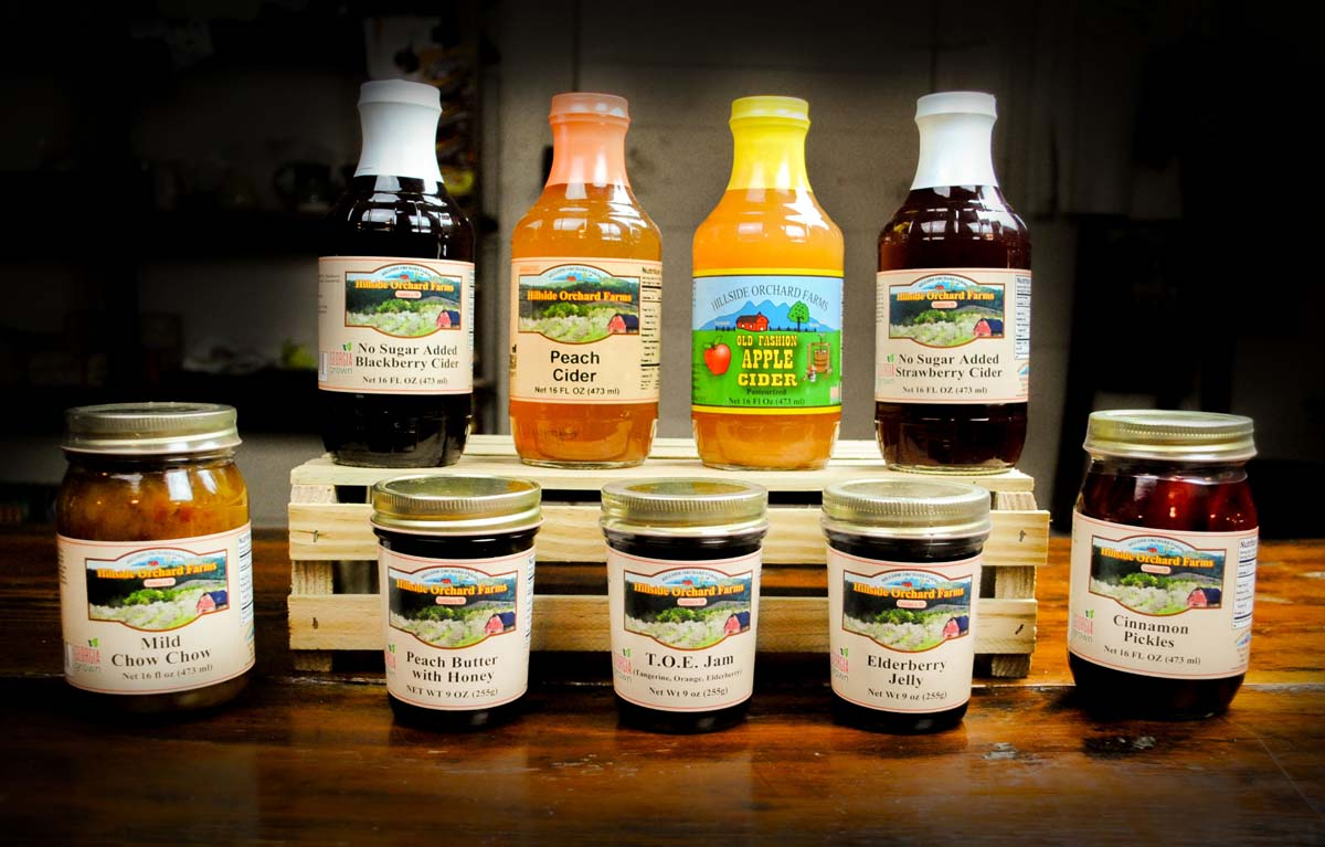 Just a few of the more than 600 natural local products from Hillside Orchard Farms