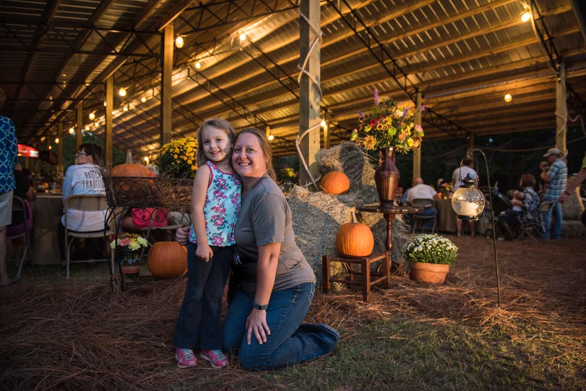 Laura McDonald and daughter Sidney at the White Oak Pastures 150th Anniversary