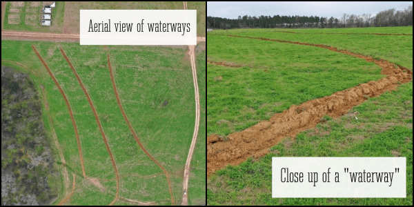 Water cycle erosion prevention mitigation