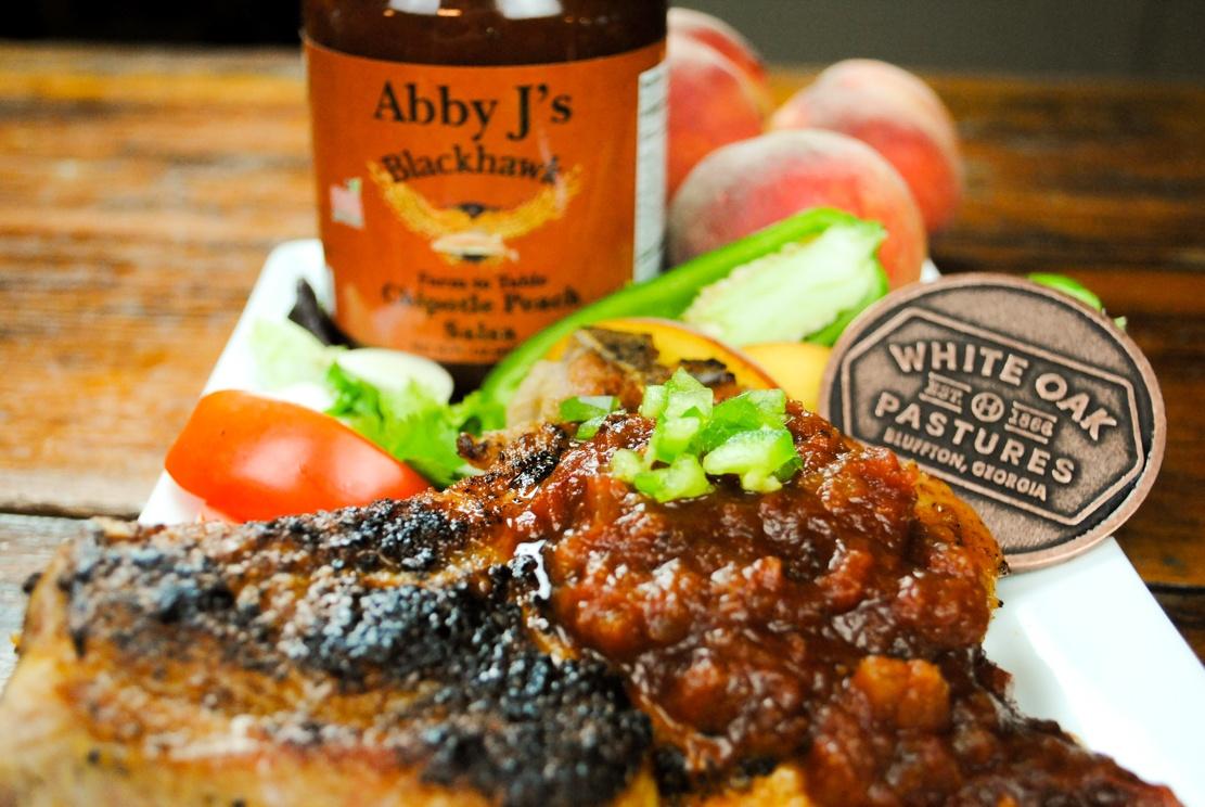 Abby J peach salsa
