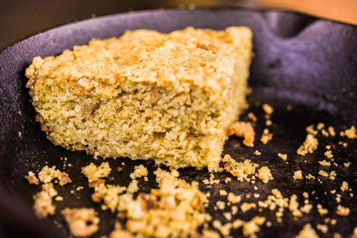 White Oak Pastures Iberico Pork Cracklin Cornbread recipe