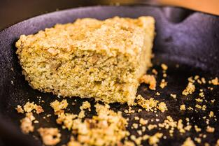 White Oak Pastures Iberico Pork Cracklin Cornbread recipe