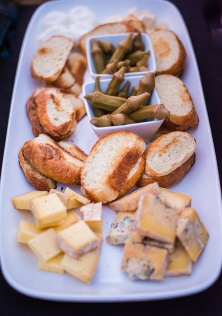 Customer Favorite Cheese Plate with pickled okra with barn free grassfed raw cheese and local bread.jpg