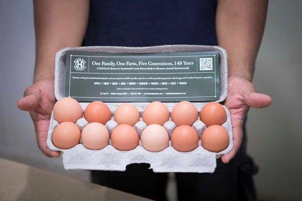 One dozen pastured chicken eggs from White Oak Pastures