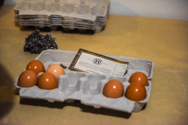 eggs washed egg room