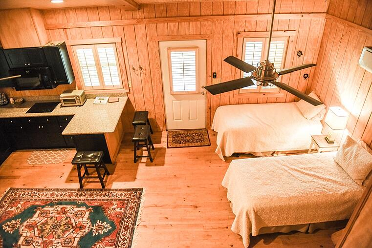Guest House interior at White Oak Pastures