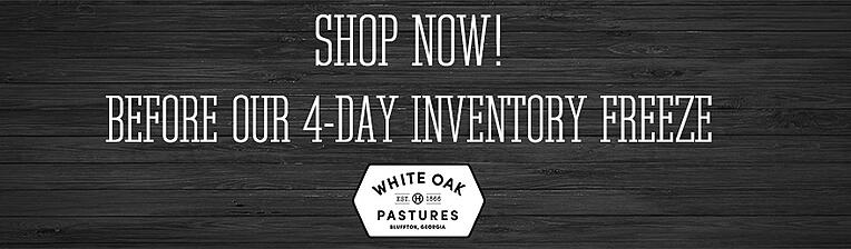 Shop now before our 4 day inventory freeze.