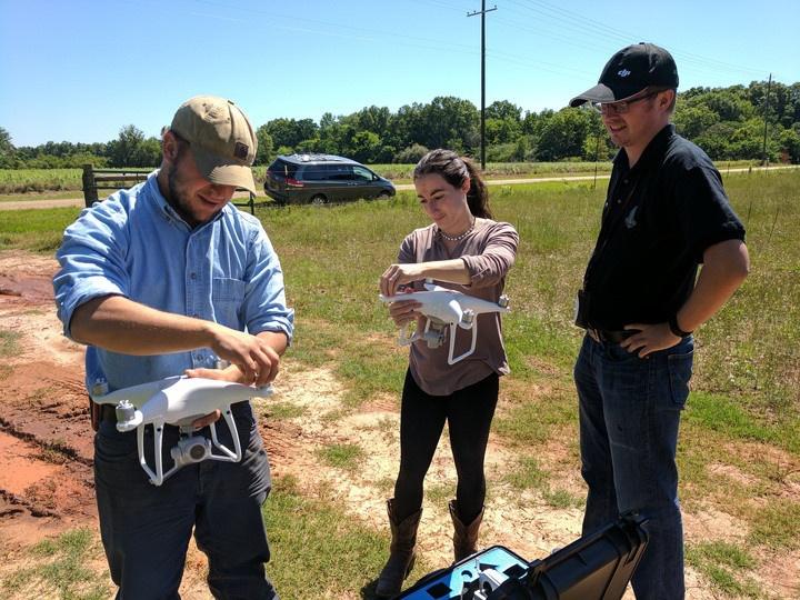 Skyraiders teaching Laura and Graham