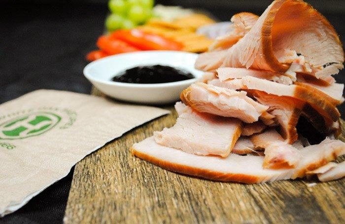 Naturally cured hardwood smoked turkey breast