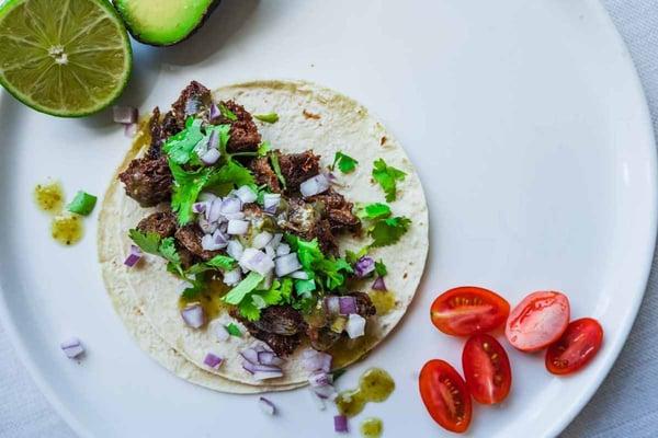 tacos de lengua grassfed beef tongue tacos
