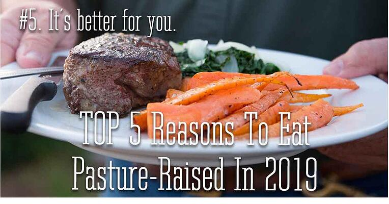 Reason 5 to eat pasture raised in 2019. It is better for you.