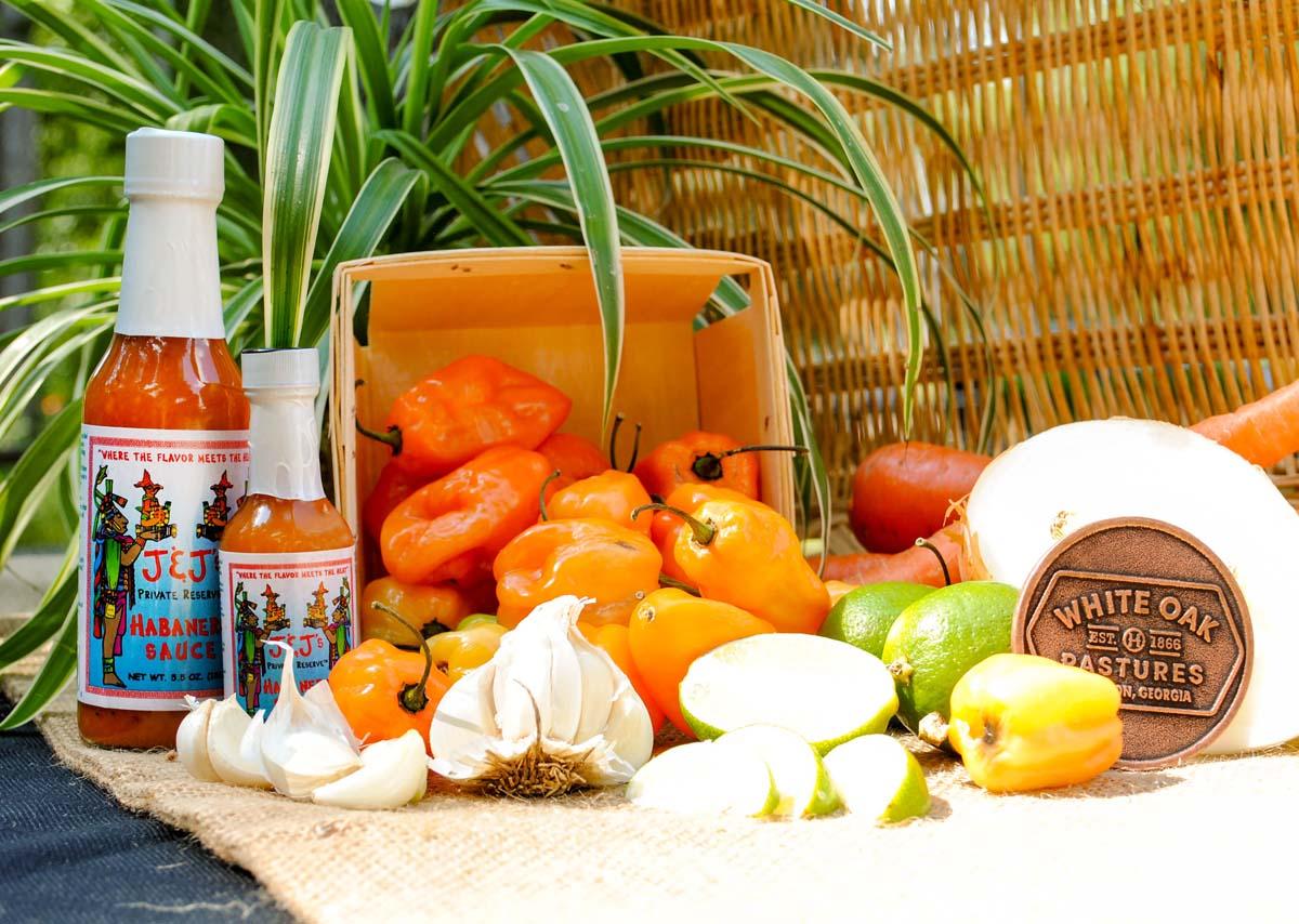 JJs-habanero-sauce-fresh-ingredients