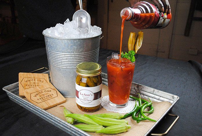 LeAnns Pickled Okra and Bloody Mary mix are local gourmet foods made in Georgia