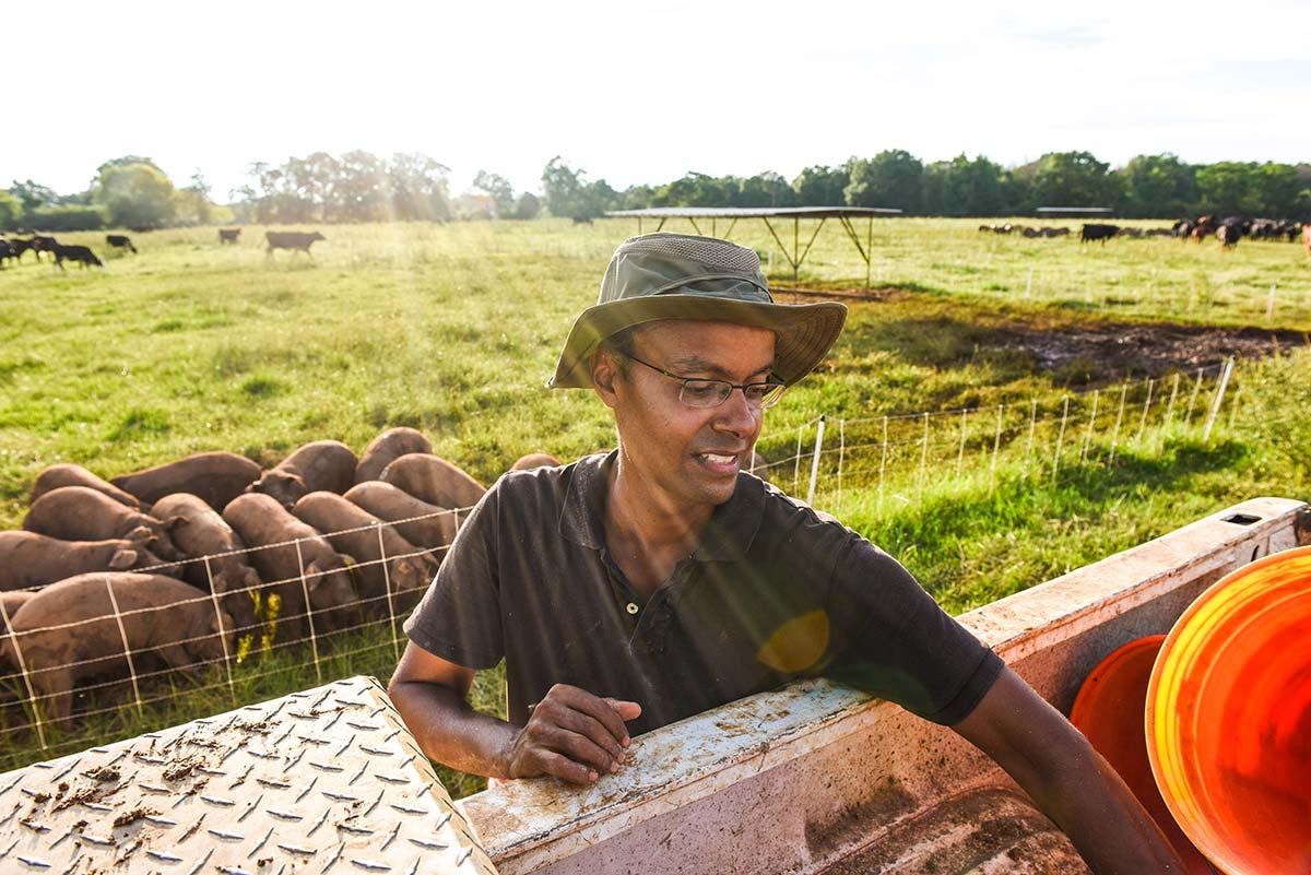 White Oak Pastures intern Olivier Deslandes
