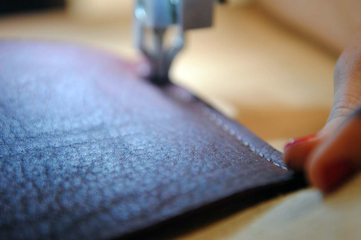 White Oak Pastures handmade leather stitching
