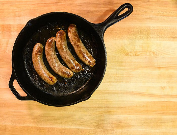 small batch natural casing sausage